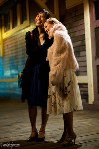 Yvette Lu and Jacqlyn Atkins in Murder at the Orient Street Express. Photo by Brice Ferre.